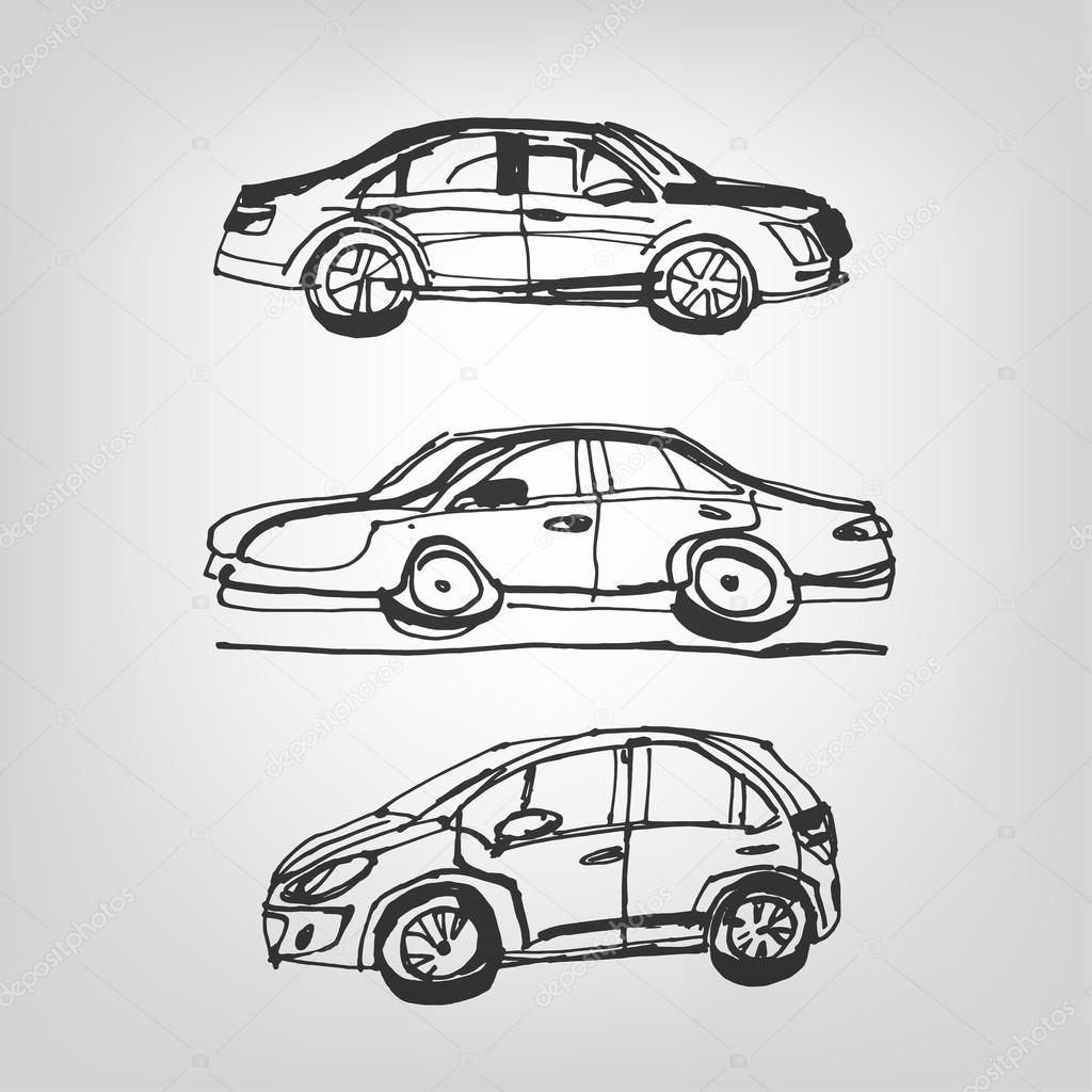 Auto Skizze — Stockvektor © annyart #53839955