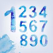 Photo Watercolour Alphabet Numbers