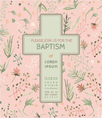 Baptism invitation card