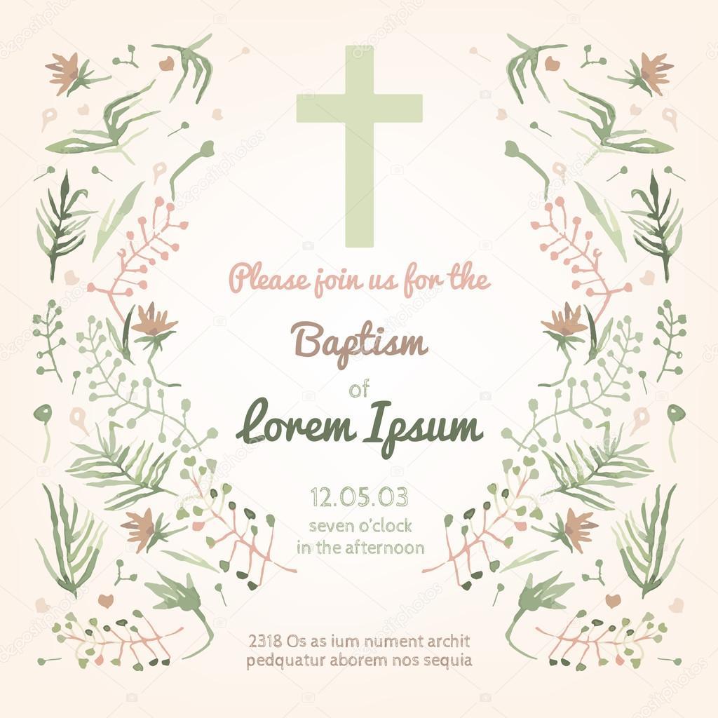Carte D Invitation De Bapteme Image Vectorielle Annyart C 78325562