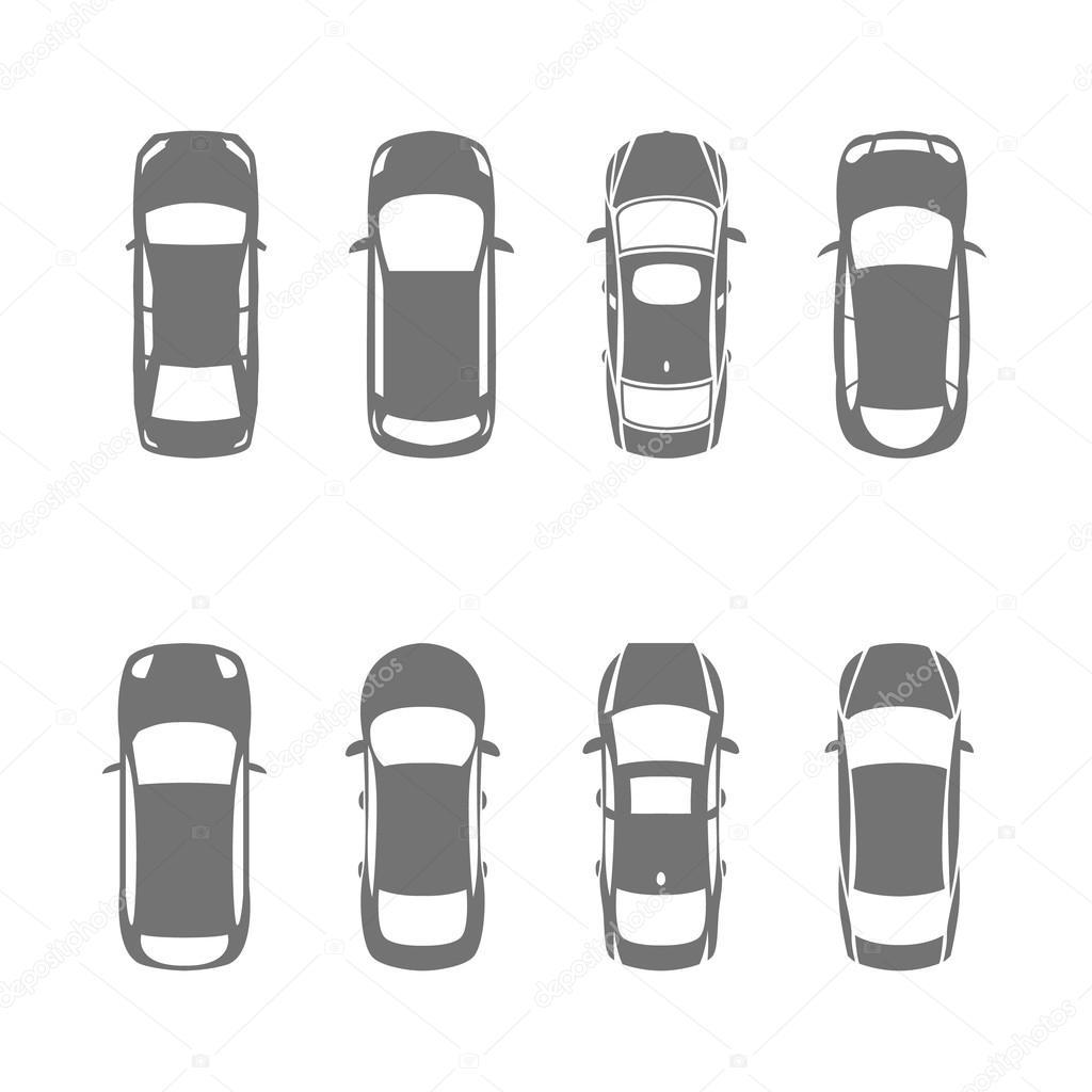 Vue de dessus de voitures image vectorielle annyart 84209414 - Voiture vue de haut ...