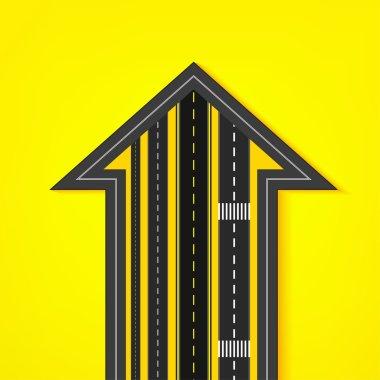 Road arrow icon