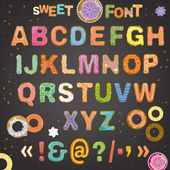 Photo Sweet font vector