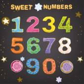 Photo Sweet Handdrawn Numbers