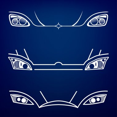 Car Headlights vector