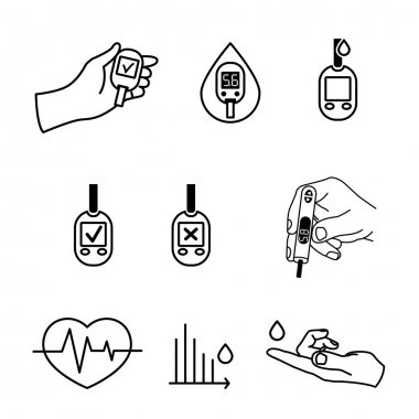 Diabetes Icons vector