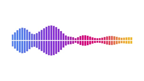 Audio-Wellenform-Equalizer auf weißem Hintergrundschleifen-Animationsmaterial. Musik oder Tonwellenmaterial.