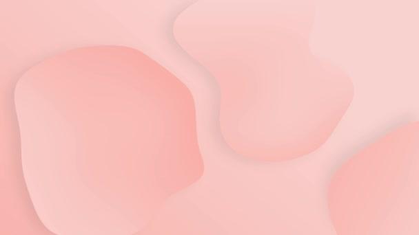 Futurisztikus Organic Designed Liquid Animated Shot. Rózsaszín Színes Liquid Gradient Videó az Ön számára Bemutatás, színes buborék animációk