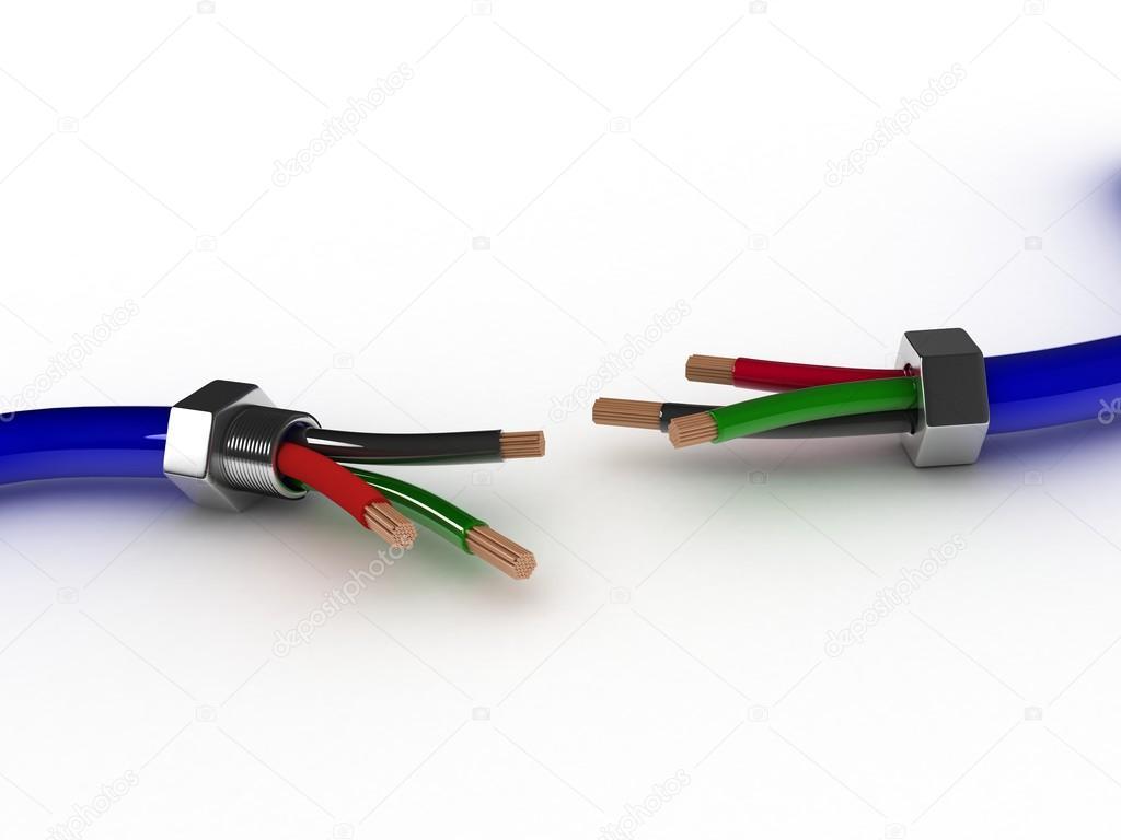 3D elektrischer Draht — Stockfoto © sscreations #58172207