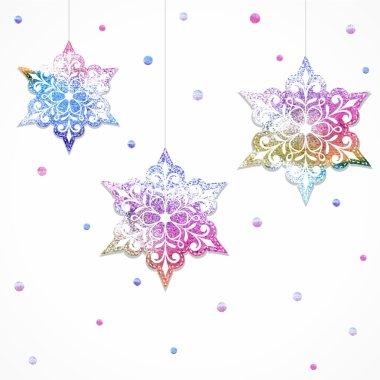 Winter decorative snowflakes.