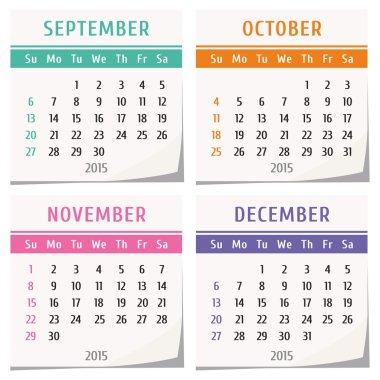 2015 calendar design