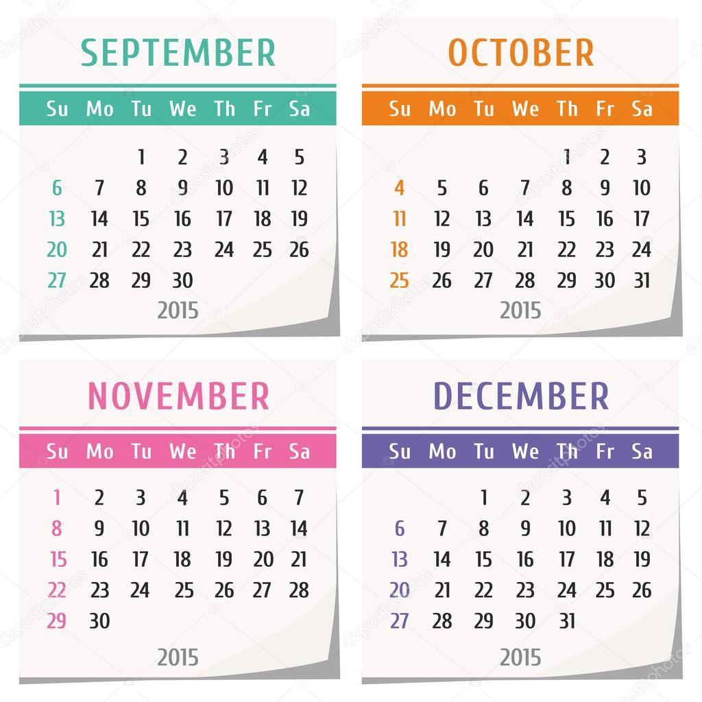 Illustration Calendar Design : Calendar design — stock vector oaurea