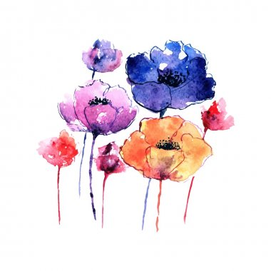 Poppies Greeting card.