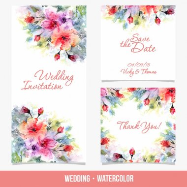 Wedding cards with flowers