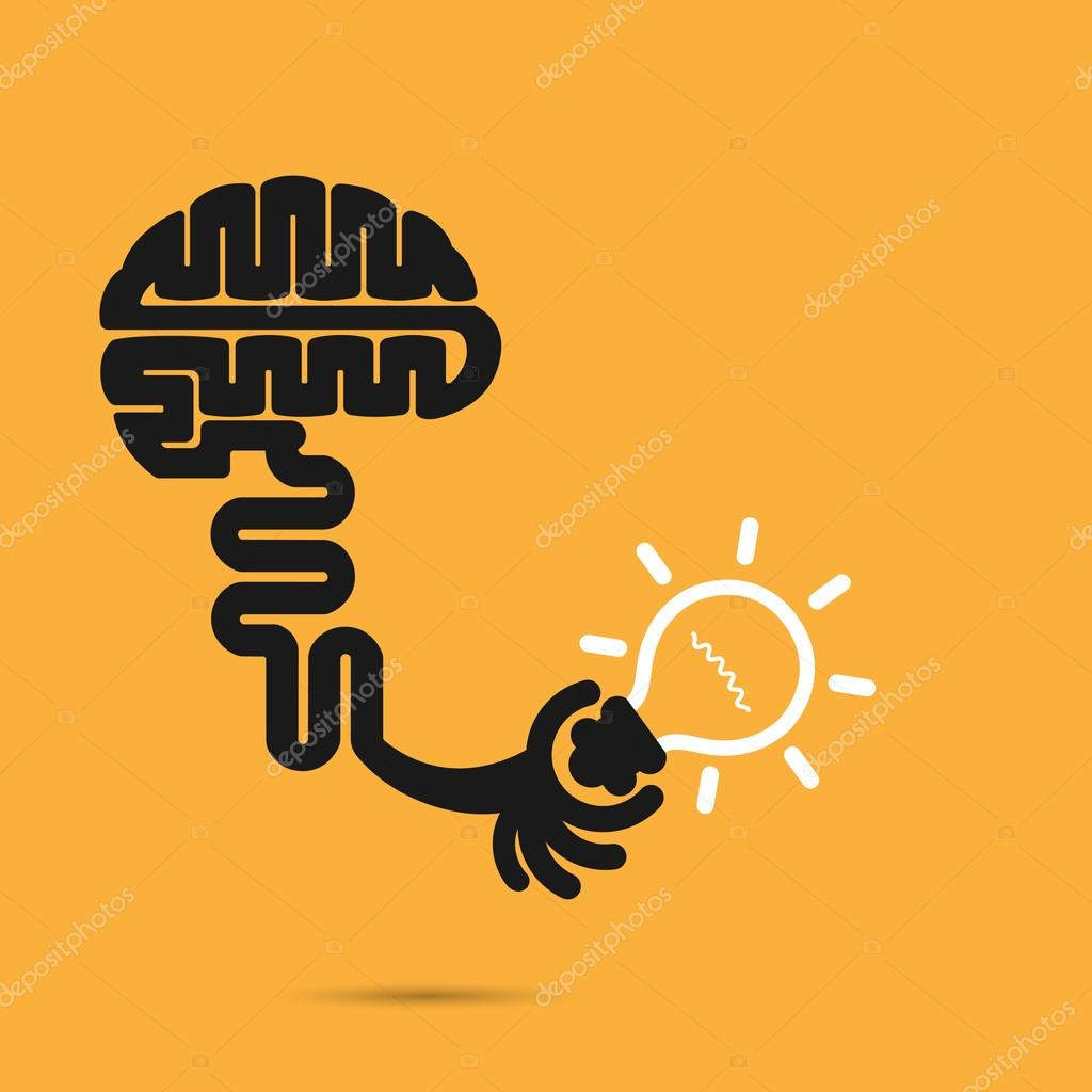Brain icon and light bulb symbol creative brainstorm and knowle brain icon and light bulb symbol creative brainstorm and knowle stock vector biocorpaavc Images