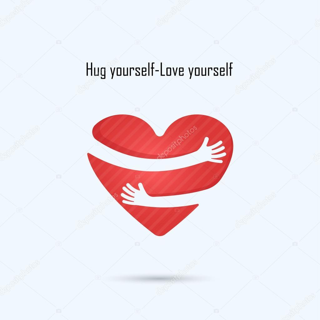 Hug yourself logolove yourself logolove and heart care logohe hug yourself logolove yourself logolove and heart care logohe buycottarizona