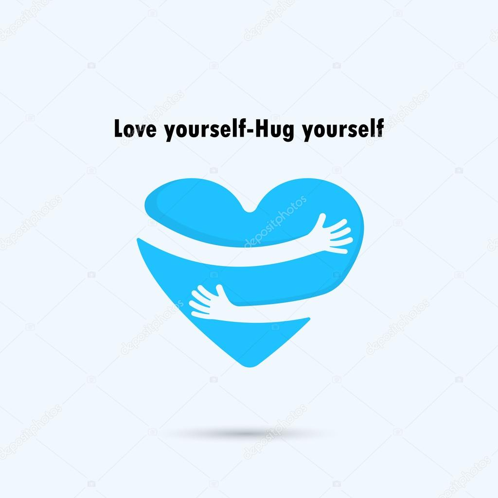 Hug Yourself Stock Vectors Royalty Free Hug Yourself Illustrations