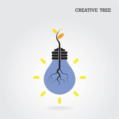 Creative and knowledge tree concept. Education and business sign