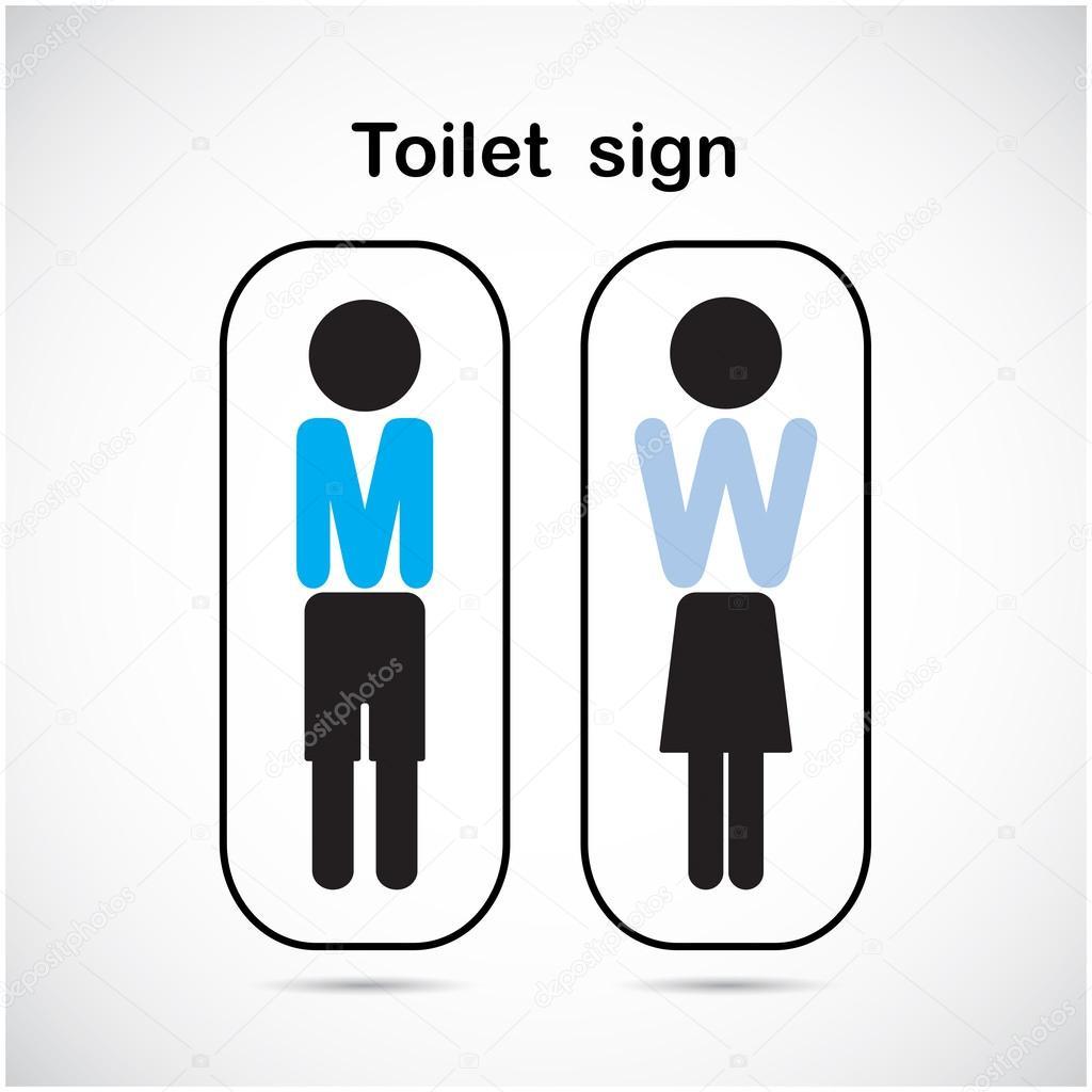 Signe De Toilettes Homme Et Femme Symbole De Toilettes Image