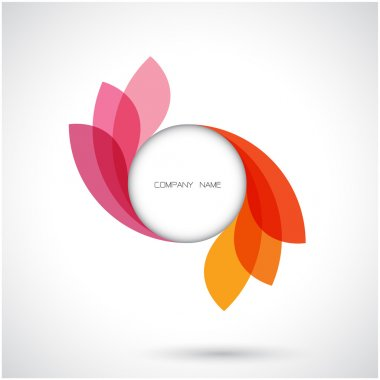 Creative abstract vector logo design template.