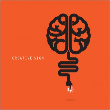 Creative brain concept. Business and education concept.