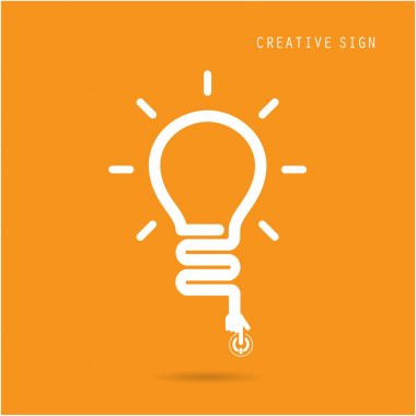 Creative light bulb concept, design for poster flyer cover broch