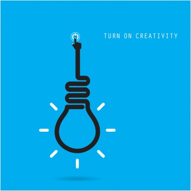 Turn on Creative light bulb concept.Business idea and education