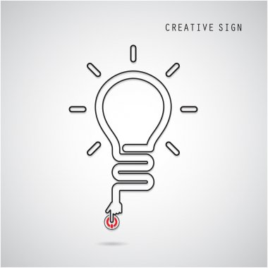 Turn on Creative light bulb concept. Business idea and education