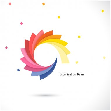 Creative abstract vector logo design template. Corporate busines