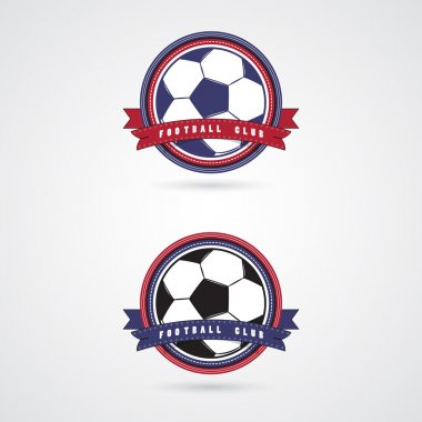 Soccer football badge logo design templates.