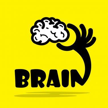 Creative brain sign idea,flat design.Concept of ideas inspiratio