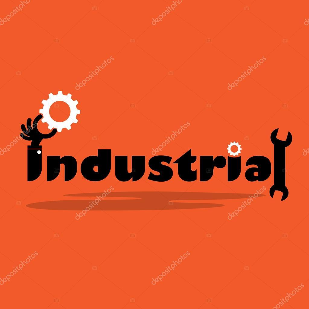 Creative gear cog idea,flat design.Concept of industrial inspira