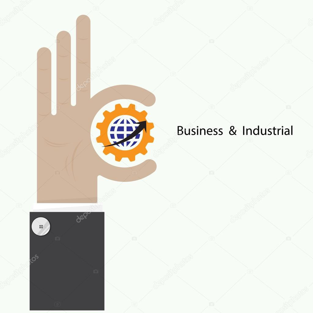 Businessman hand shows target symbol as business concept. Ok han