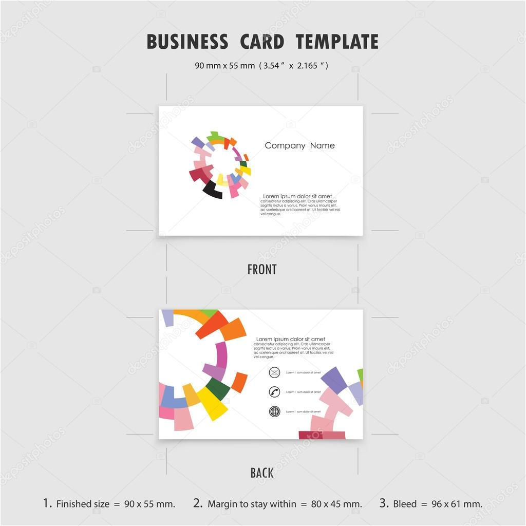 Abstract Creative Business Cards Design Template, Size 90mmx55mm ...