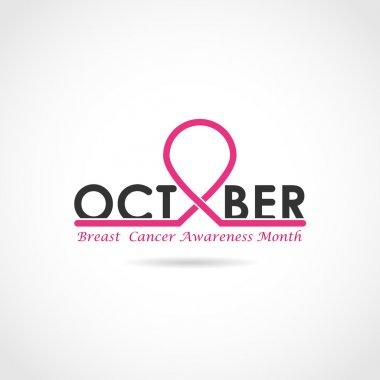 Breast cancer awareness logo design. Breast cancer awareness mon