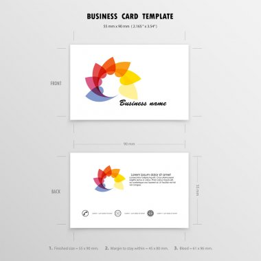 Abstract Creative Business Cards Design Template. Name Cards Sym