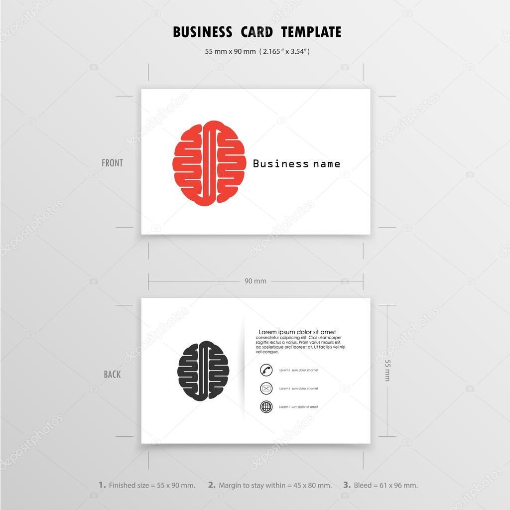 Abstrakte kreative Visitenkarten-Design-Vorlage. Name Karten Sym ...