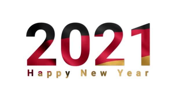 2021 Boldog új évet, Németország 2021, Németország zászló animáció 2021, Németország boldog új évet zászló animáció 2021