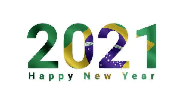 2021 Happy New year, Brazil 2021, Brazil flag animation 2021, the Brazil happy new year flag animation 2021