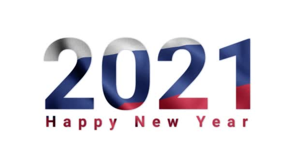 2021 Happy New year, Russia 2021, Russia flag animation 2021, the Russian happy new year flag animation 2021