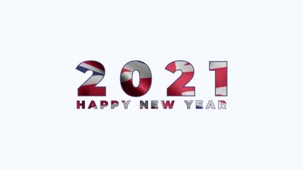 2021 Boldog új évet, Anguilla 2021, Anguilla zászló animáció 2021, az Anguilla boldog új évet zászló animáció 2021