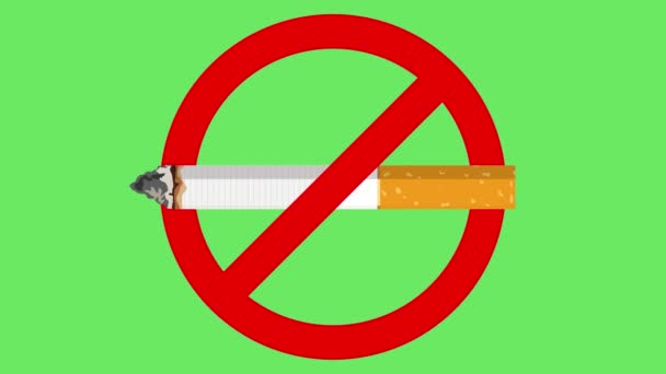 Don t smoke sign animation, Don t smoking don t smoke sign close up