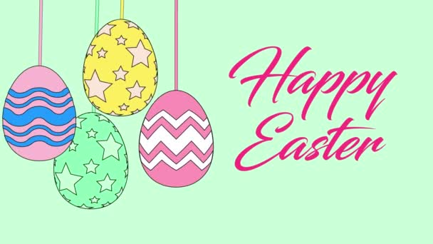 Buntes Easter Egg Design Vector Set, Buntes Easter Egg Design Vector Set, fröhliche Osterkarte mit Ei-Symbol auf weißem Hintergrund. Vektorillustration