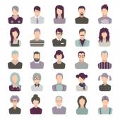 set of icons. people. isolated