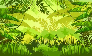 tropic jungle background