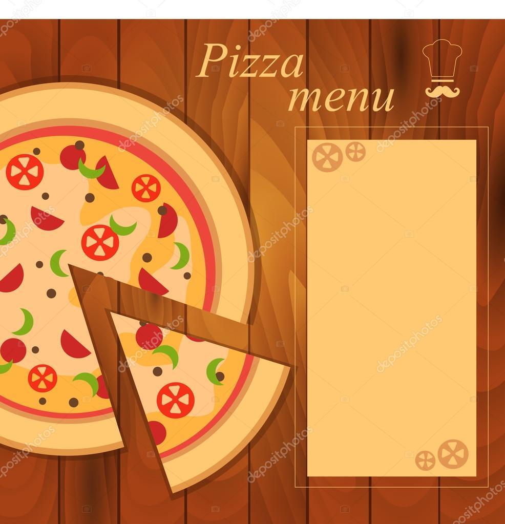 menu for pizza template stock vector scorpion333 75758473