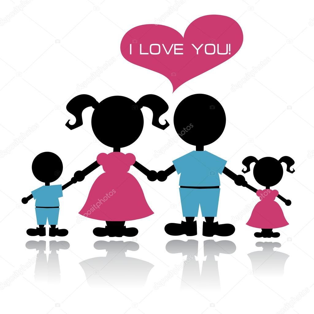 Imágenes Familia De 4 Concepto De Amor Familiar Vector De Stock