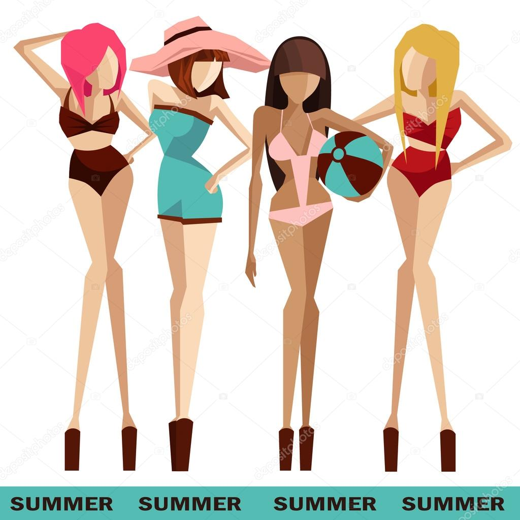 beach girls in bikinis