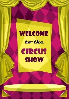 circus show card, banner
