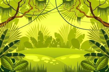 """Картина, постер, плакат, фотообои """"джунгли фон. лес."""", артикул 86565444"""